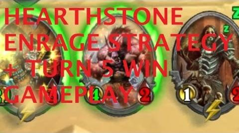 Hearthstone Enrage Strategy Turn 5 Win Gameplay