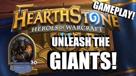 Hearthstone Hunter Gameplay - Unleash the Giants
