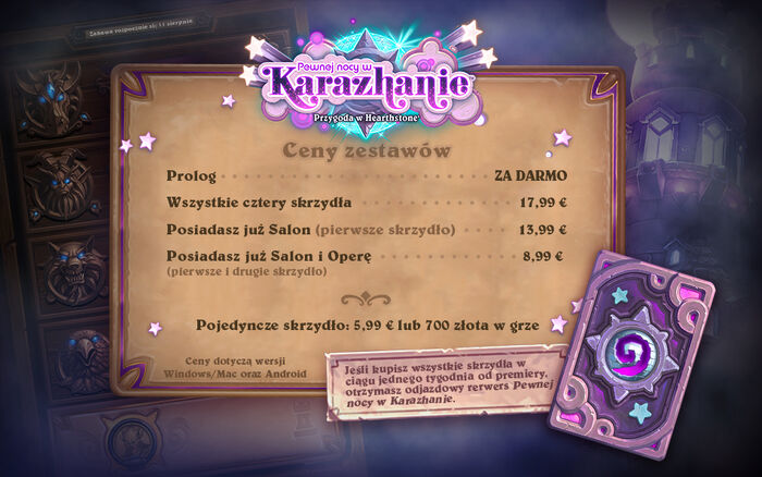 Karazhan Cena