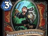 Agresywny małpiszon
