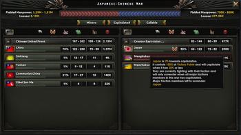 War summary screen