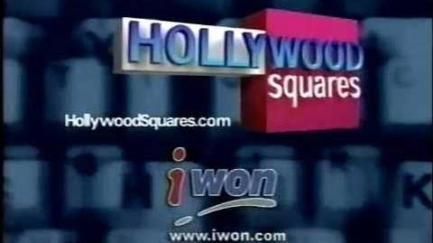 IWon Hollywood Squares celebrity sweepstakes plug, 2000