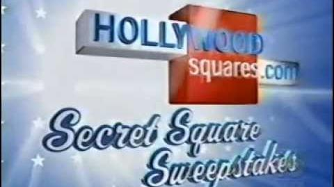 "Hollywood Squares ""Secret Square Sweepstakes"" plug, 2001"