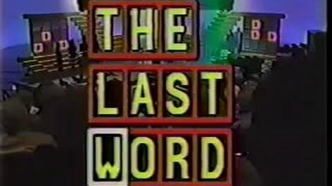 The Last Word (Pilot, 1989)