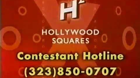 Hollywood Squares contestant plug, 2002