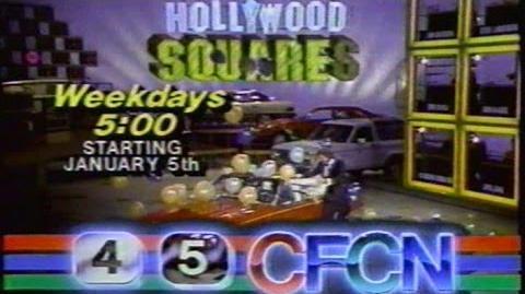 CFCN Hollywood Squares Promo, Dec 31 1986