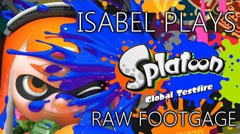 Isabel plays Splatoon gameplay RAW FOOTAGE