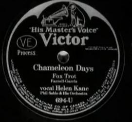 Mae Questel as Helen Kane Victor knock off Chameleon Days