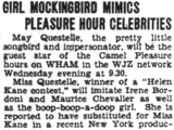 Girl Mockingbird Mimics Pleasure Hour Celebrities