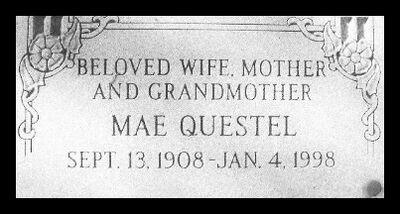 Mae Questel Grave