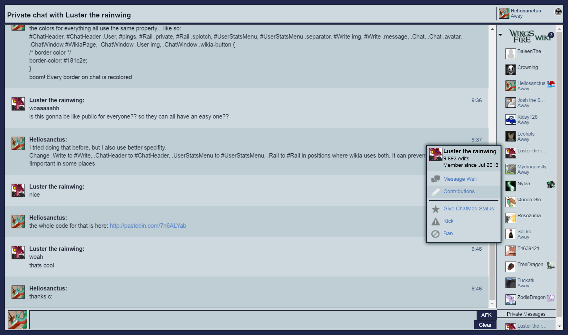 Chatskintemplate Heliosanctuss Testing Wiki Fandom Powered By