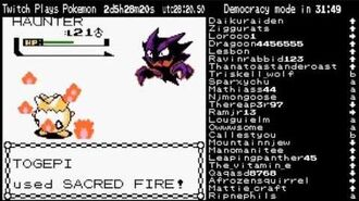 Twitch Plays Pokemon Prince Omelette Uses Sacred Fire