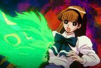 Minako attacked by Snake Demon