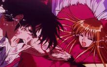 Minako-sensei being sealed