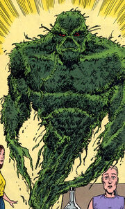Swamp Thing forms a new body from a cannabis plant