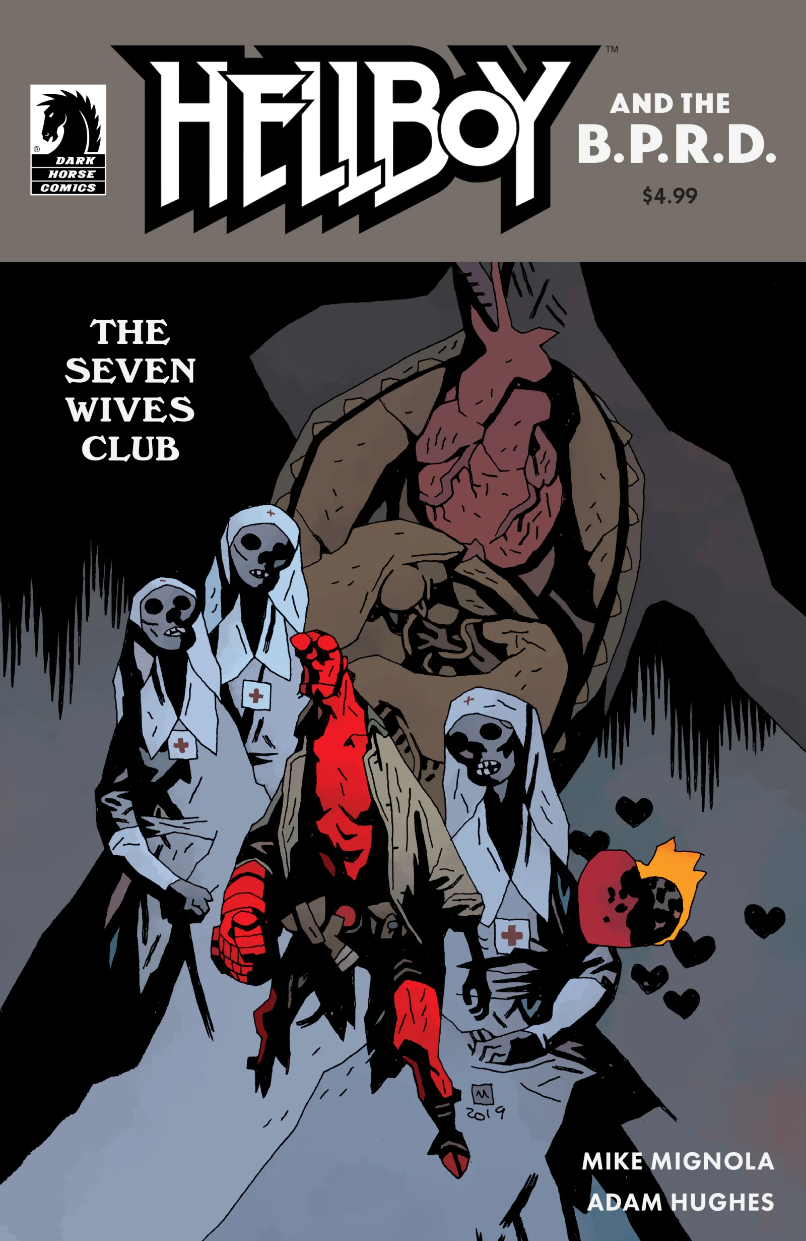 Image result for hellboy and the bprd the seven wives club #1