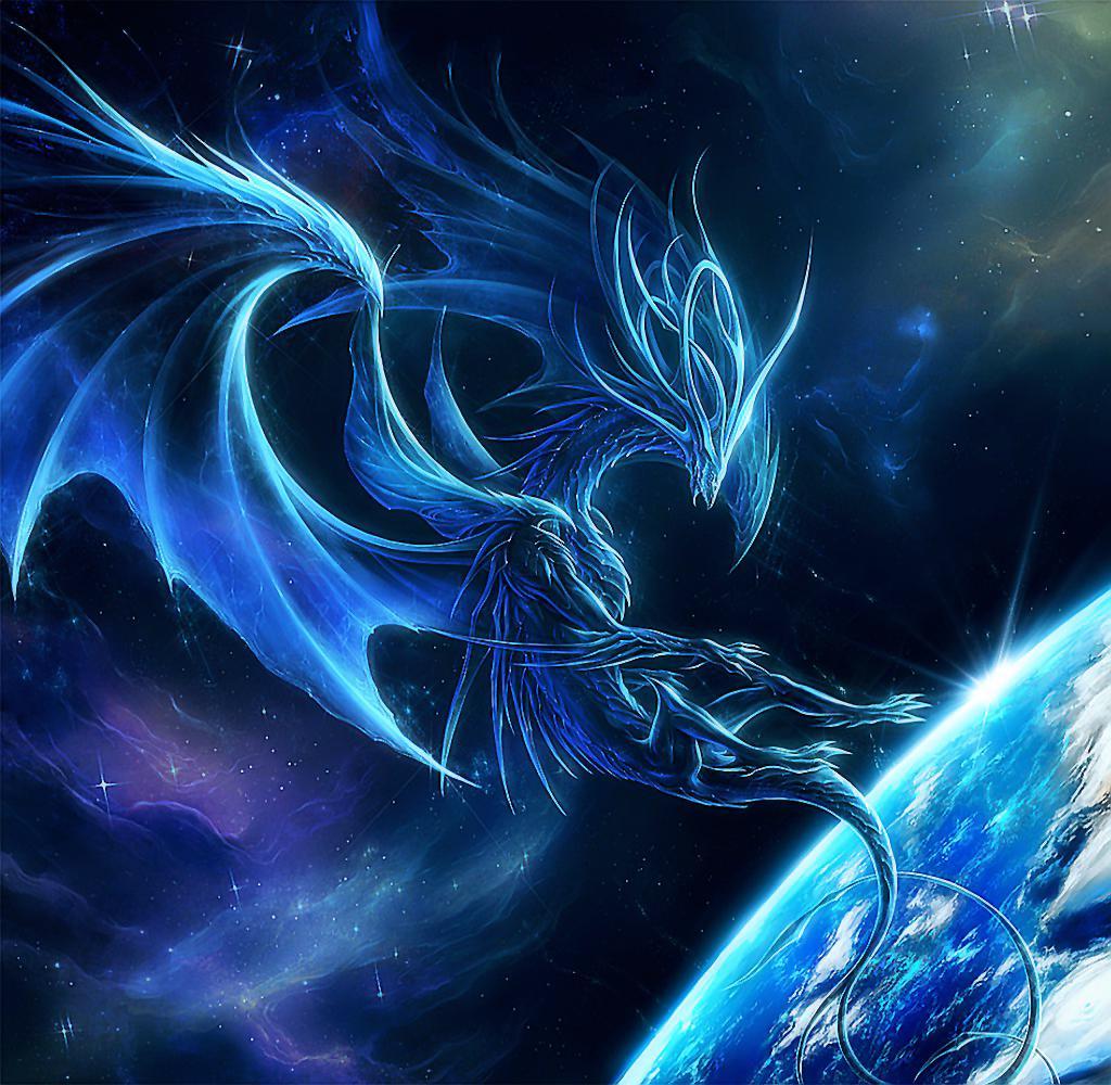 Earth Bound Dragon Planet Space Fantasy Hd Wallpaper  Jpg