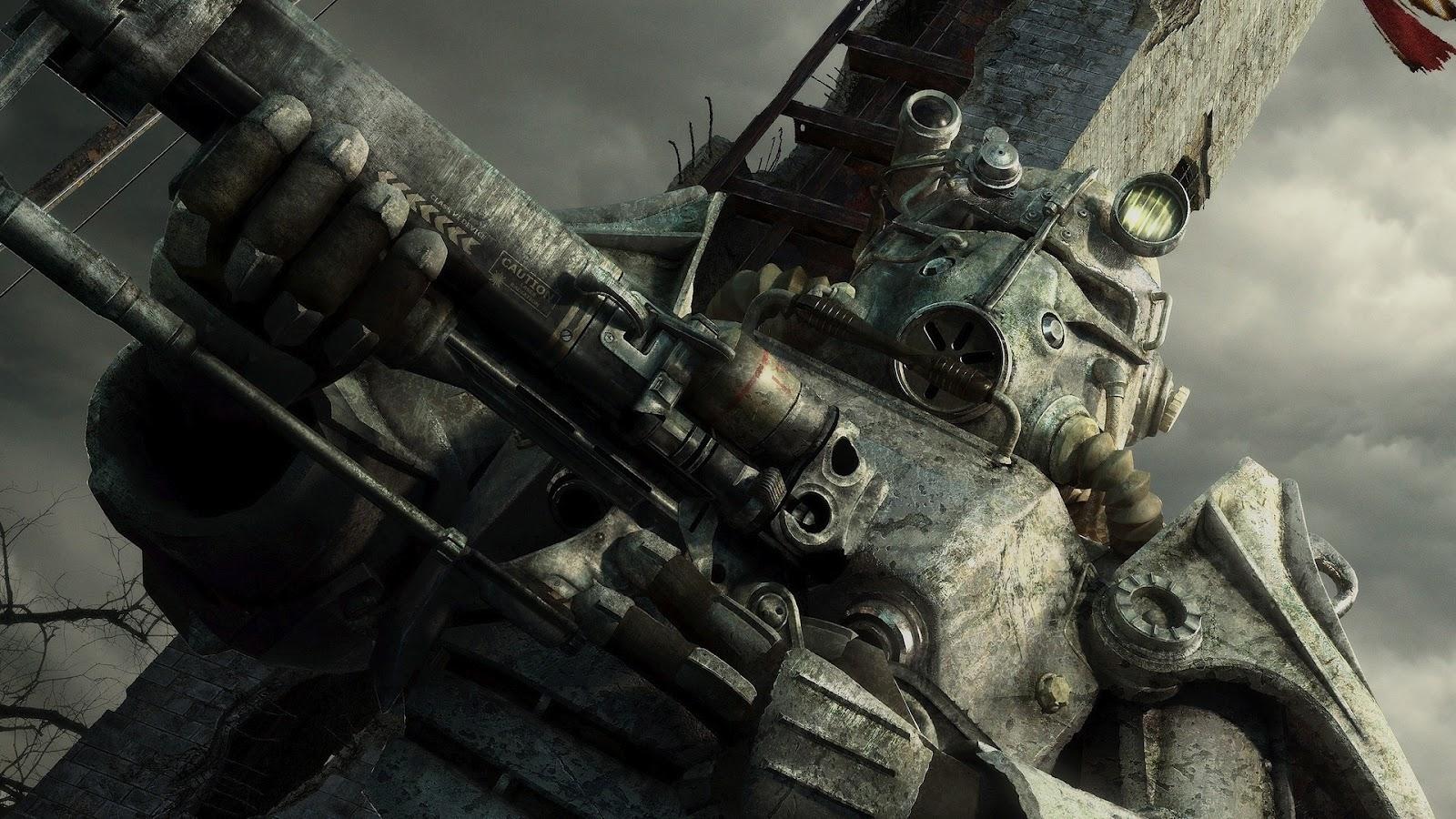 Fallout 3 Brotherhood Of Steel Power Armor 1920x1080 Desktopia Net