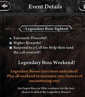 Legendary Boss Sighted