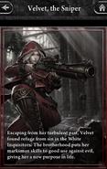 Velvet, the Sniper Lore