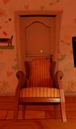 Дверь, подпёртая креслом из Alpha 1