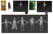 Сравнение персонажей