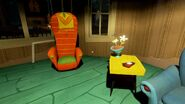 Кресло и столик в зале (Alpha 3)