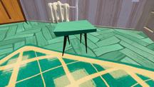 Синий стол