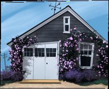 Арт с непонятным домом