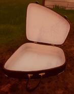 Открытый чемодан