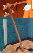 Столб с фонарём