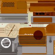 Текстура старого радиоприёмника
