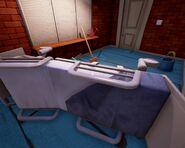 Больничная койка в мастерской в Alpha 2