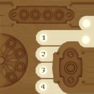 Текстура панели лифта с кнопками