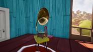 Граммофон с зелёной пластинкой