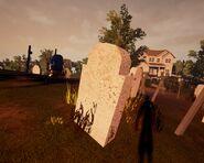 Каменное надгробие из Alpha 2 и Alpha 3