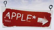 Знак к яблокам
