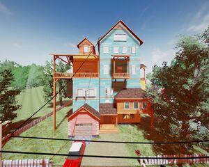 Дом Соседа из Альфы 1 днём