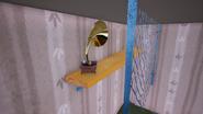 Граммофон с красной пластинкой