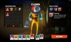 Сосед Клоун в Лобби