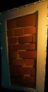 Кирпичная стена вместо двери