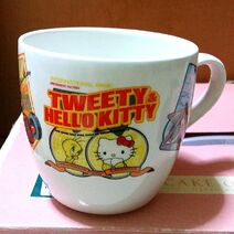 Rare vintage hello kitty tweety collaboration mug 1492270422 dbe469cb
