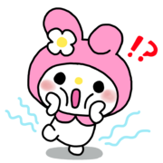 My melody 1 photo sticker transparent overlay by mcjjang-d7rxlwi
