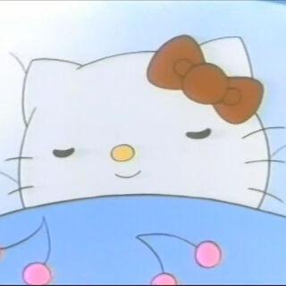 Hello Kitty sleeping