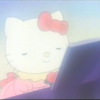 Hello Kitty playing the piano during her dream sequence
