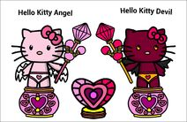 Hello Kitty Angel and Hello Kitty Devil(JC-KOM Cartoon)