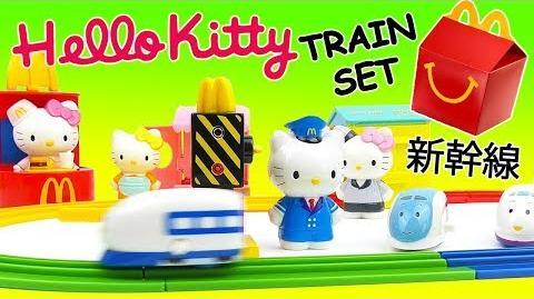 Hello Kitty McDonalds Happy Meal - Full Set 2003 Shinkansen Bullet Train Set Surprise Opening