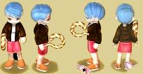 Blue hair 2 for girl