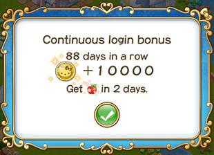 Login bonus day 88