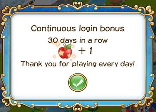 Login bonus day 30